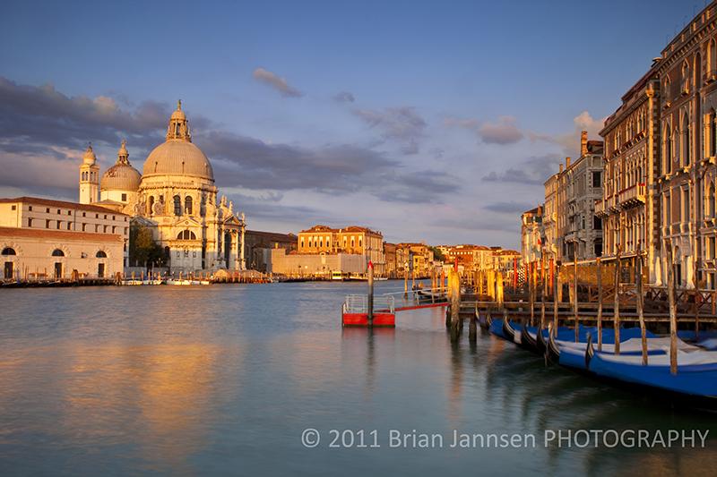 Grand Canal Santa Maria Della Salute Venice Italy