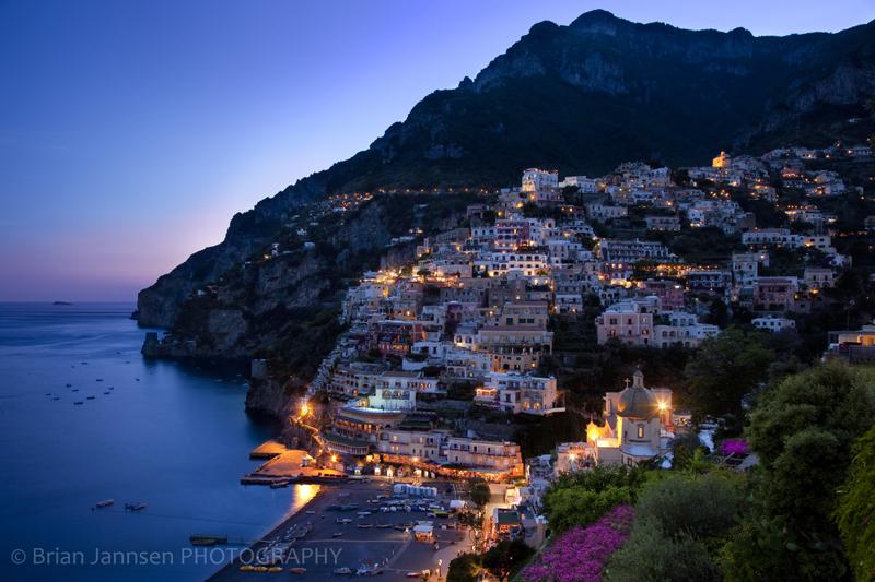 Positano Amalfi Italy Twilight