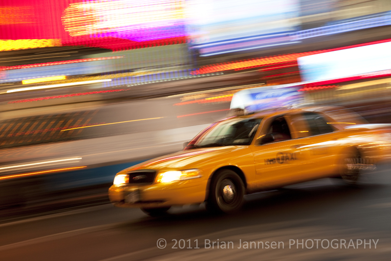 Taxi Cab Times Square Manhattan New York City