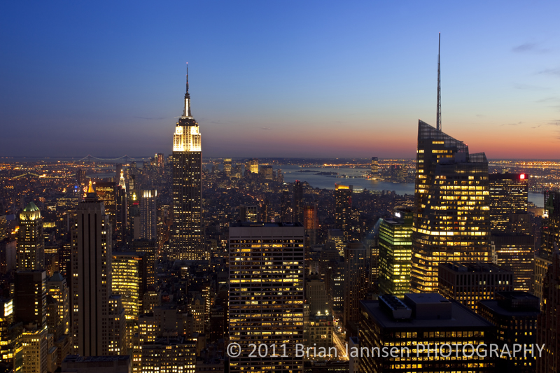 Twilight Manhattan New York City