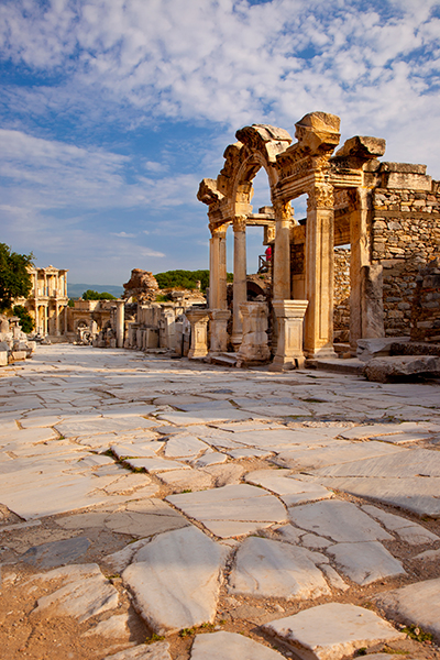 Street of Curetes Temple Hadrian Ephesus Turkey Ruins