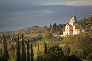 Madonna di San Biagio Church below Montepulciano, Tuscany, Italy