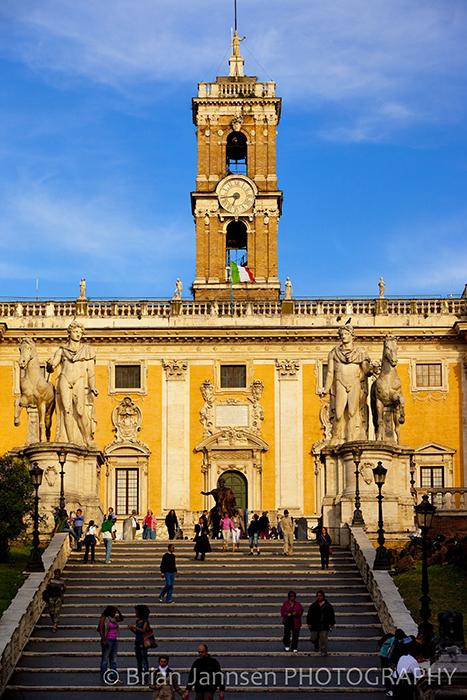Piazza Campidoglio Cordonata Staircase Rome Italy