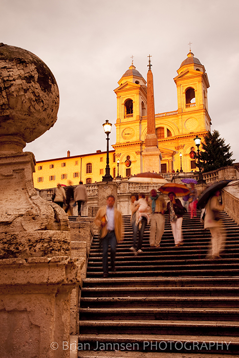 Spanish Steps Church Trinità dei Monti Rome Lazio Italy