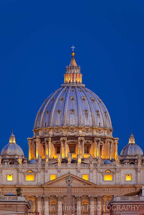 St Peters Basilica Cathedral Dome Vatican Catholic Pope