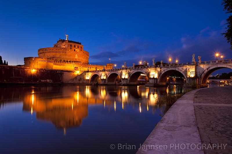 River Tiber Castel Ponte Sant Angelo Rome Italy