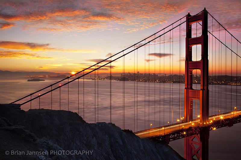 Golden Gate Bridge San Francisco California Bay sunrise