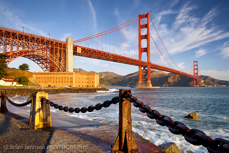 Golden Gate Bridge San Francisco California Fort Baker Bay