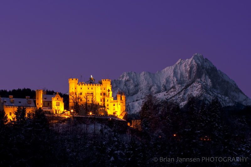 Bavaria Hohenschwangau Castle Schwangau Winter Germany