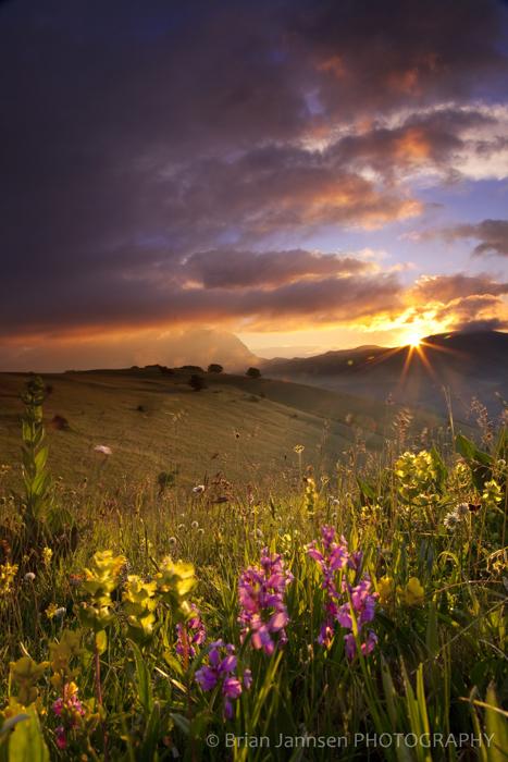 Sunrise Monti Sibillini Umbria Italy Photography workshop tour