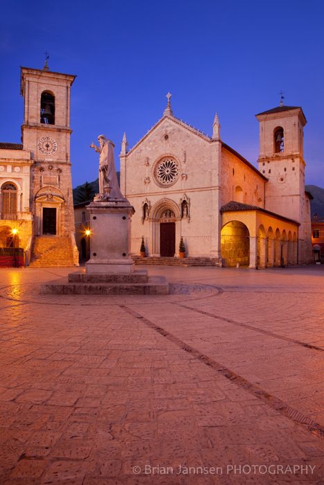 Piazza San Benedetto Norcia Umbria Italy Photography Workshop Tour