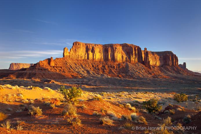 Sentinel Mesa Monument Valley Navaho Tribal Park Arizona