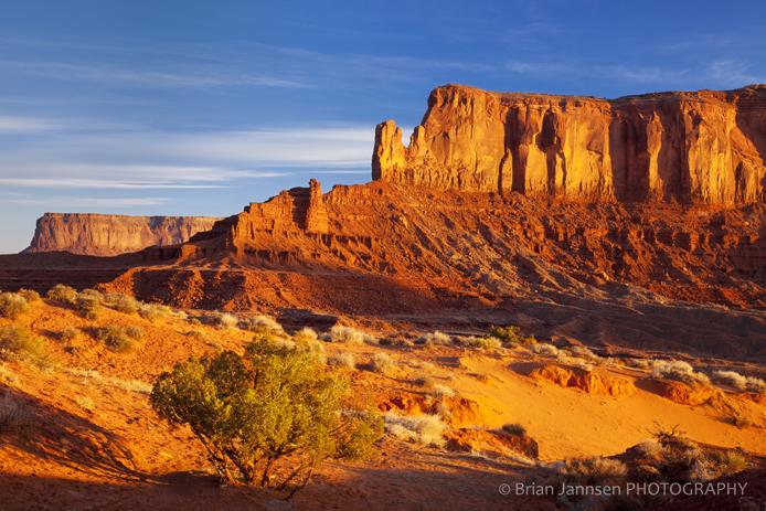 Sentinel Mesa Monument Valley Navajo Tribal Park Arizona Sunrise