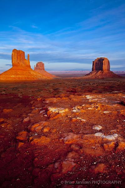 Mittens Merrick Butte sunset Monument Valley Navajo Tribal Park Arizona