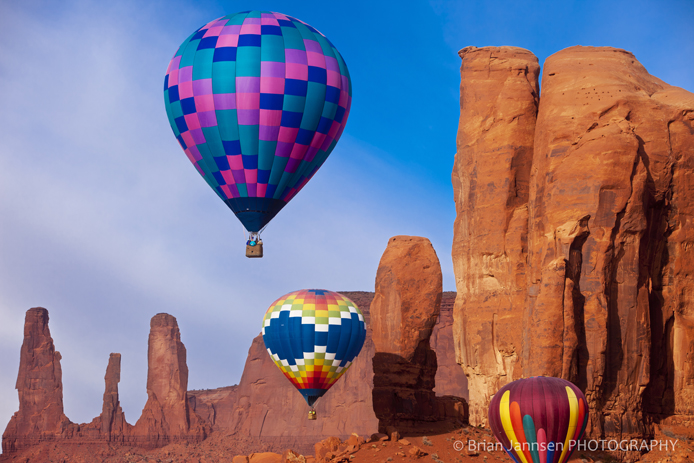 Hot Air Balloons Monument Valley Arizona