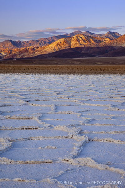 Salt Polygons Badwater Basin Death Valley California