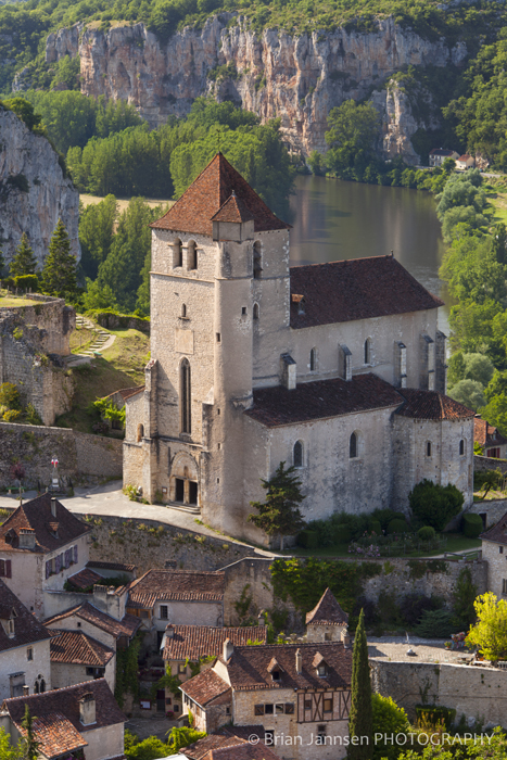 Eglise Church Saint Cirq Lapopie Lot Valley France