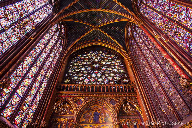Stained Glass windows chapel Sainte Chapelle Church Paris France