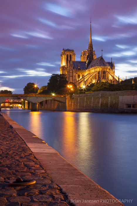 Cathedral Notre Dame River Seine Paris France