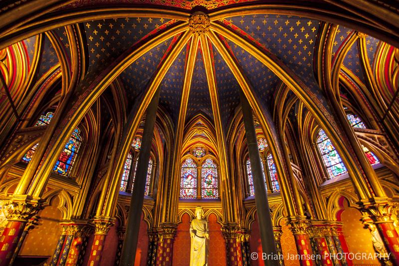 Interior Lower Chapel Sainte Chapelle Paris France