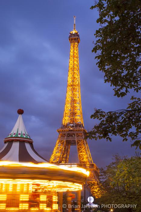 Carousel Eiffel Tower Paris France