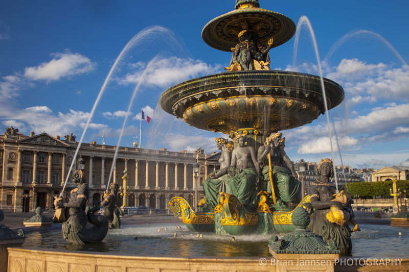 Fountain of River Commerce and Navigation Place de la Concorde Paris France