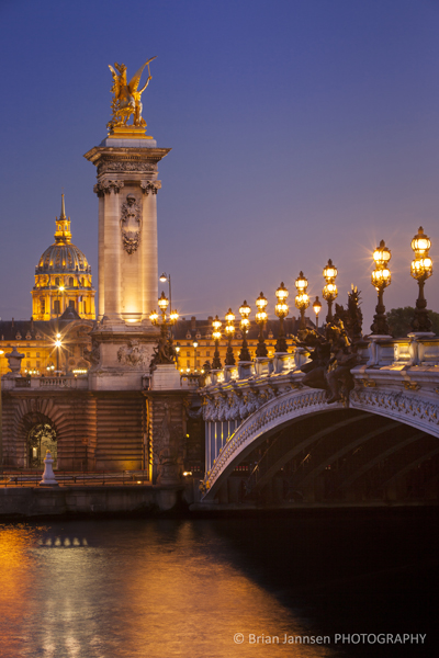 Pont Alexandre III over River Seine, Paris, France